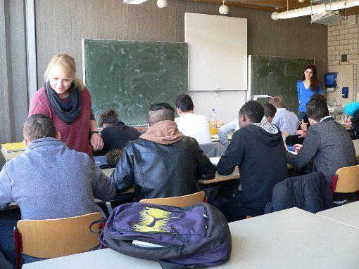 Migranten lernen gemeinsam deutsch