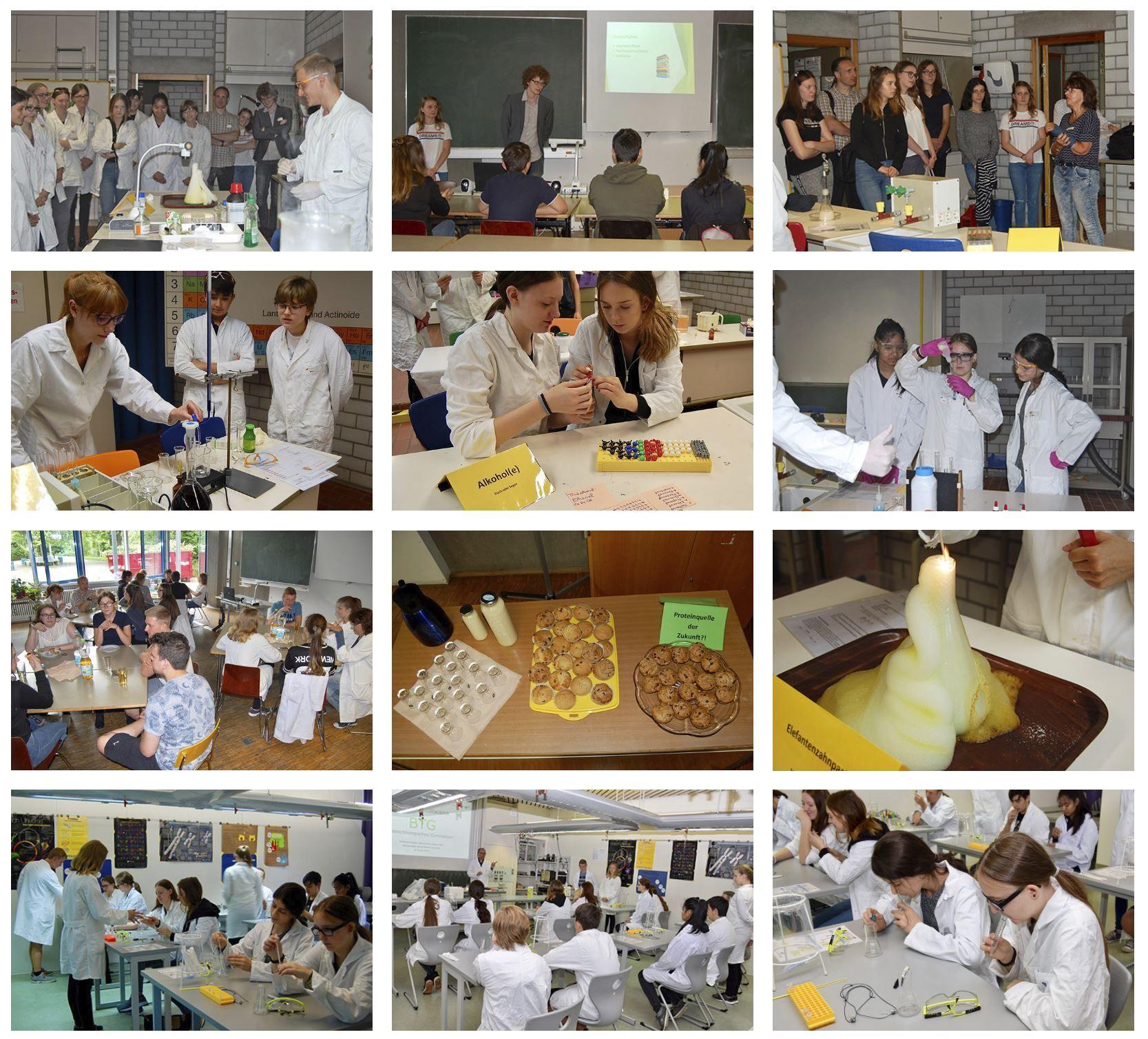 Schnuppertag - Realschüler im Labor